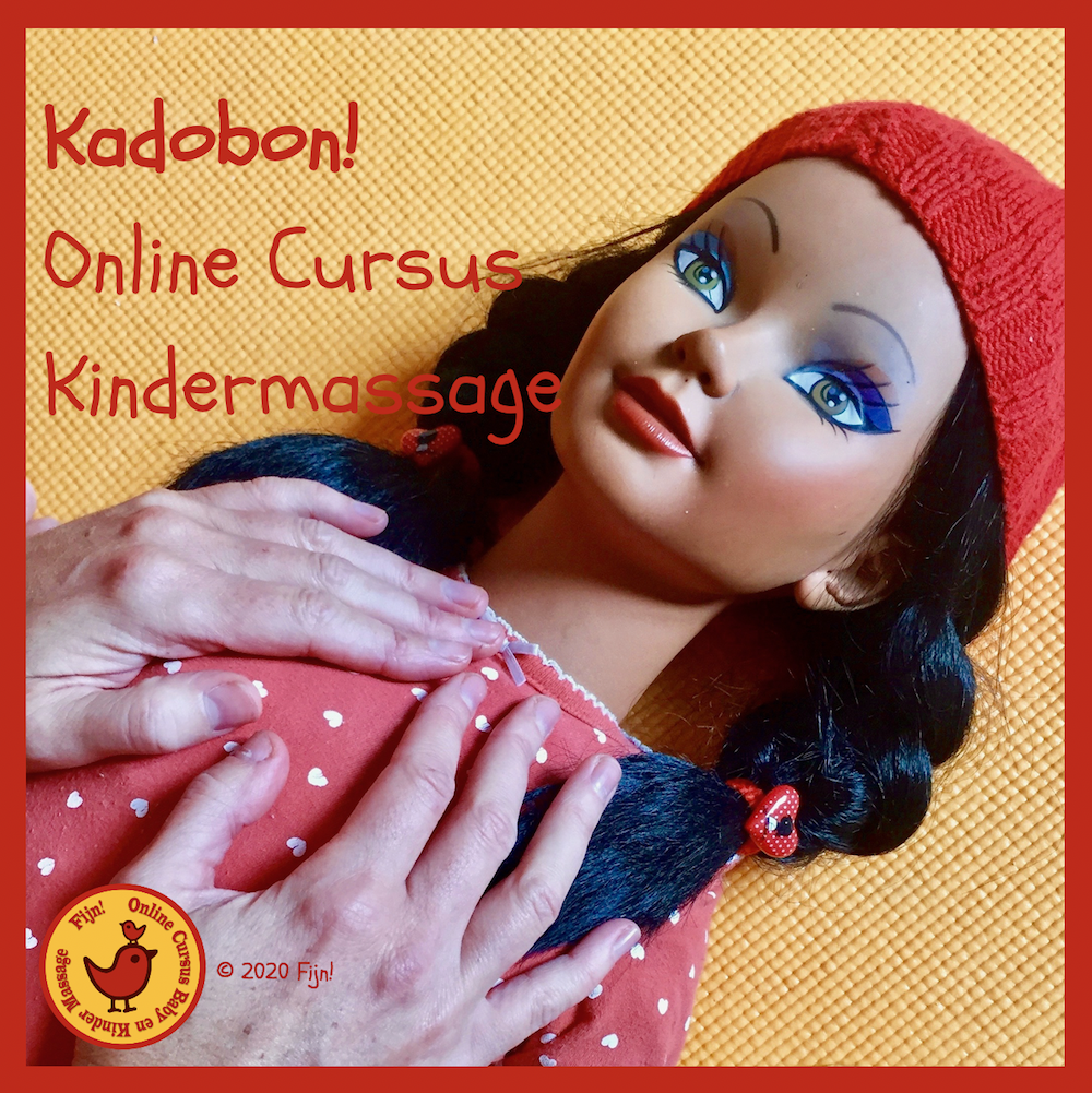 Kadobon online cursus Kindermassage